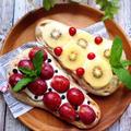レアチーズケーキ風フルーツナン