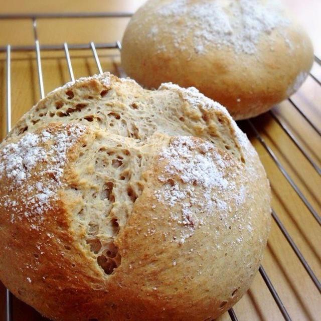 国産全粒粉でパン作り比べ。