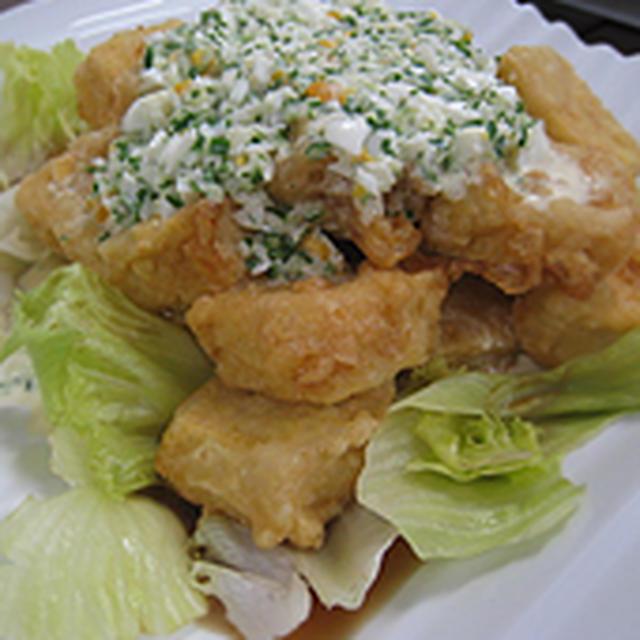 高野豆腐でなんちゃってチキン南蛮