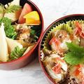 ■季節の弁当【ちらし寿司おにぎり/掘り立て竹の子の煮付け/菜の花のお浸し】
