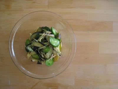 きゅうりとなすの漬物サラダ