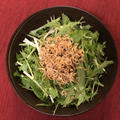 水菜とカリカリじゃこのサラダ(柚子胡椒ドレッシング)
