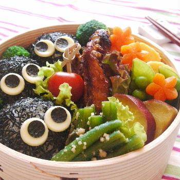 手羽中のピリ辛煮*まっくろくろすけのお弁当