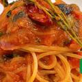 [塩気と辛味でワインが進む、ナポリの名物パスタ] 〜スパゲッティ・プッタネスカ〜