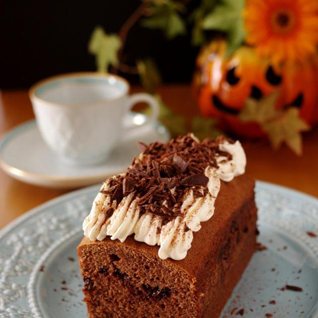 おとなの簡単本格!カフェモカケーキ(珈琲チョコレートのパウンド)☆Weekend Flower×レシピブログ「花と料理で楽しむ♪ハッピーハロウィン」投稿レシピ