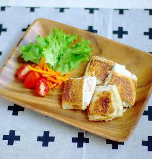 はんぺんのツナマヨチーズ挟み焼き