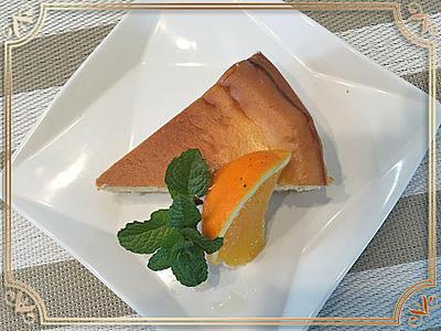 フードプロセッサーでお手軽にオレンジ香るベークドチーズケーキ~♪