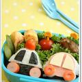 【作り方】パトカー&クルマのおにぎりキャラ弁 by asamiさん
