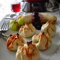 SHIMAさんの塩レモンソルティドッグ と ナン包みレチョー トースターで超簡単 お惣菜パン ブランチ♪ by 青山 金魚さん