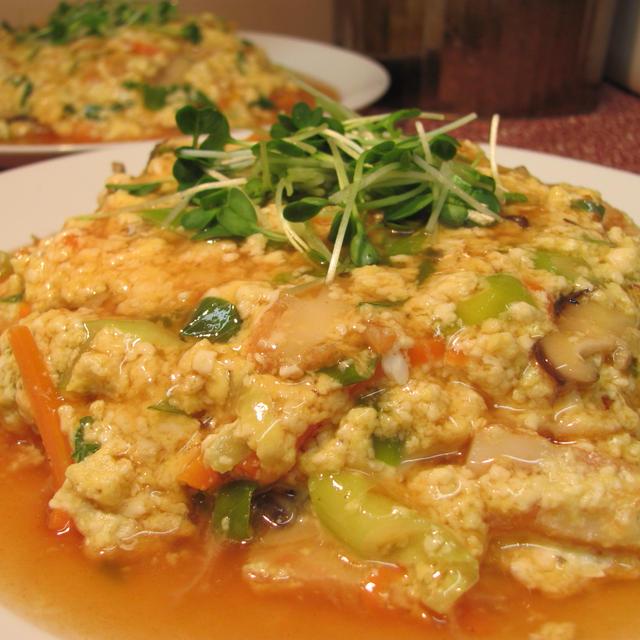 炒り豆腐の天津飯