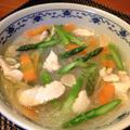 アスパラで疲労回復!春雨スープ