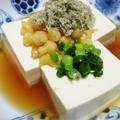 麺つゆとろろ昆布豆腐