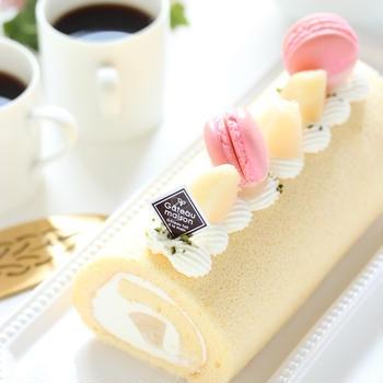 桃のロールケーキ & ニューヨークチーズケーキ ~家族と楽しむおやつ
