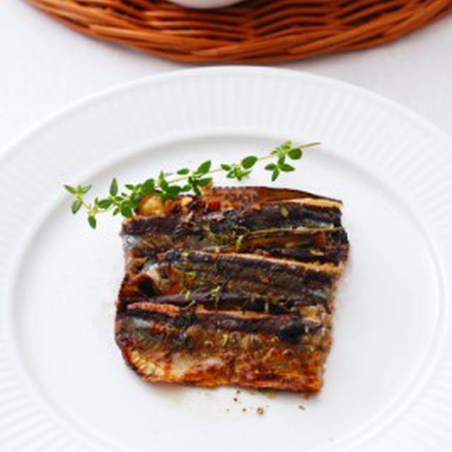 秋刀魚と茄子のミルフィユ仕立てBALAOU DE JAPON,AUBERGINES A LA MILLEFEUILLE