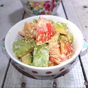 アボカドとトマトの醤油マヨ