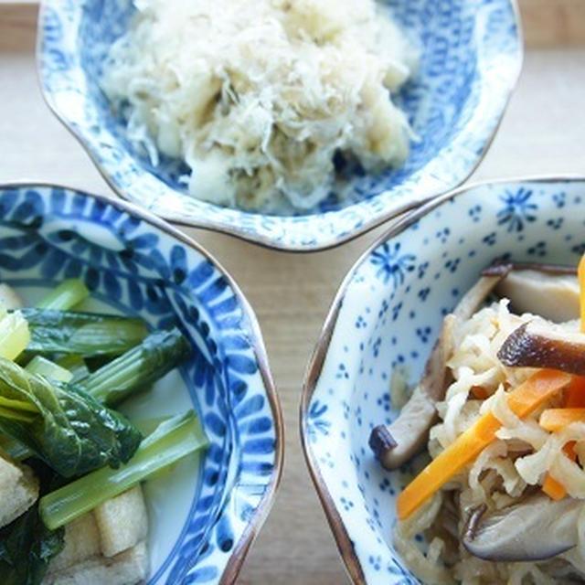 切干と小松菜とキャベツの常備菜