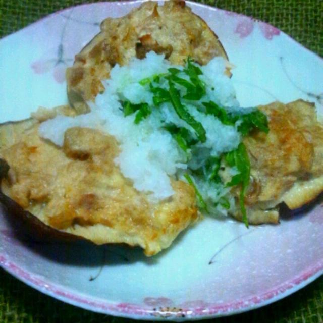 お料理レシピご紹介~10分で一品!椎茸のツナマヨ焼き、大根おろしのせ
