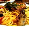牡蠣とセミドライトマトのパスタ