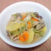 白菜とカキのスープ蒸し