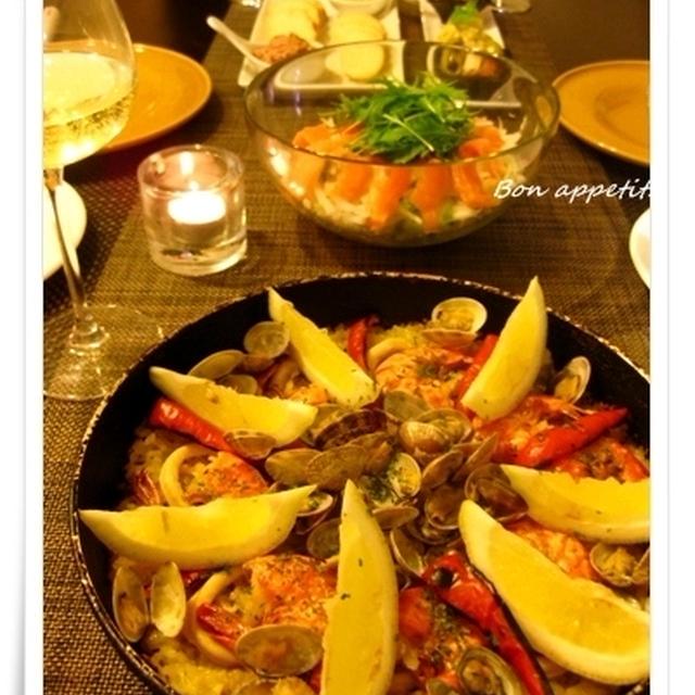 【Casual Spanish Dinner~海鮮パエリア、三種のタパス、二種のパテ他】