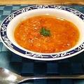トマト缶とカニ缶のスープ