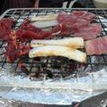 冷蔵庫で作った荒巻鮭 ~ 初の BBQ