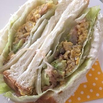 アボカドと生ハムのエッグサンドイッチ♪
