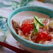 (トマト万能ソースパート2)トマトソースで頂く冷しゃぶミニ冷麺 by 桃咲マルクさん