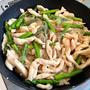 昔のレシピ、今のレシピ【鶏むね肉とアスパラの中華風春雨炒め2021】と昨日の晩ごはん