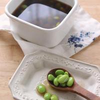 【 茹でた枝豆から作る簡単ひたし豆 】