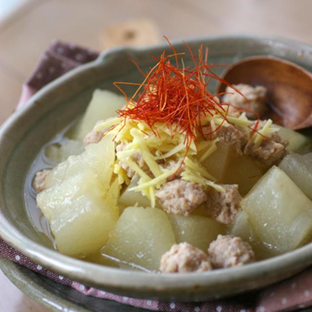 冬瓜と鶏ひき肉の煮物