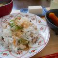鯖みりん干しとキュウリのちらし寿司