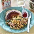 【レシピ】大豆缶入りスクランブルエッグで朝食バランスアップ!