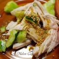レンジでおいしい!やわらか蒸し鶏ときゅうりの和風おかず(小学生でも作れる超簡単レシピ♪)&御礼!