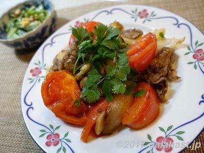 【レシピ】 牛肉とトマトの黒酢オイスター炒め ダブル旨味効果でご飯がススム!