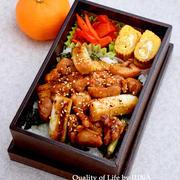 【今日のおべんと】鶏ねぎま風丼弁当/私が使っている調味料例♪