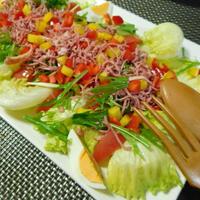 シュレッドビーフを使って、簡単豪華サラダ☆