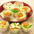 お花見にピッタリ!キュートなカップ寿司