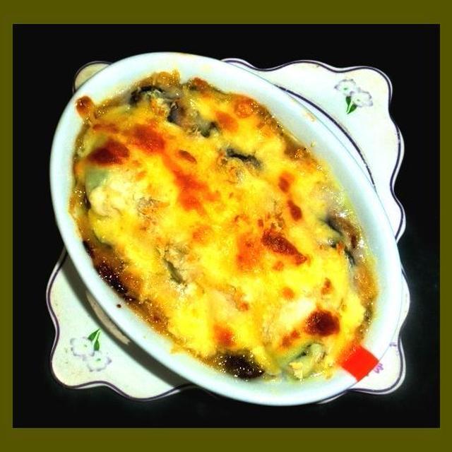 牡蠣のチーズマヨ焼きと助子の煮物