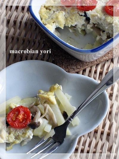 【マクロビ簡単レシピ】豆腐とじゃがいものグラタン