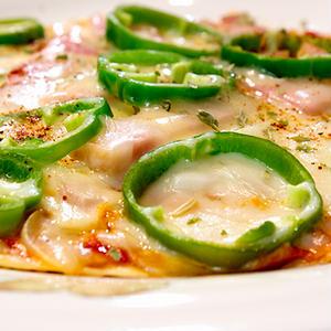 餃子皮のピザ