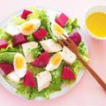 スーパーフード☆ビーツとチキンと卵のサラダ。