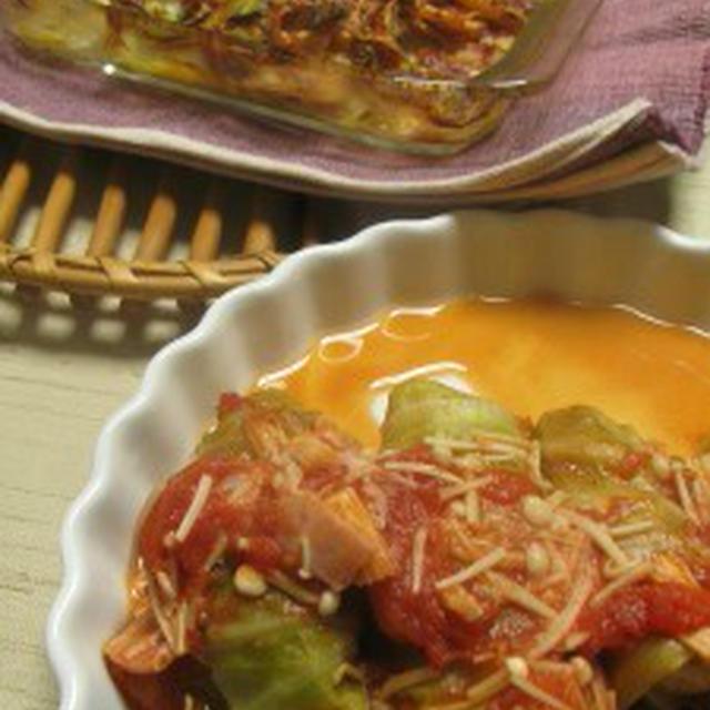 ウインナーロールキャベツ煮込み(レシピ) 生鱈のキムチチーズ焼き