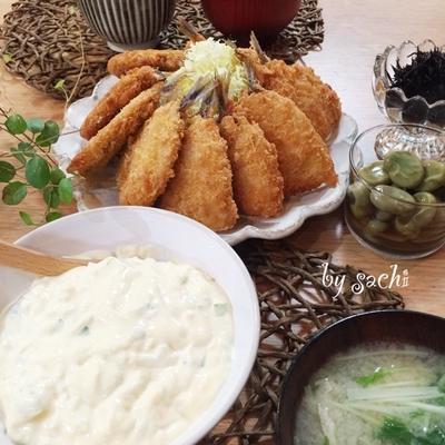 クックパッドニュース掲載♡ 夕食☆アジフライ フライに!絶品タルタルソース♪