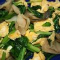 ザーサイ・ほうれん草・卵の炒め物