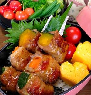 夏野菜の串焼きです☆