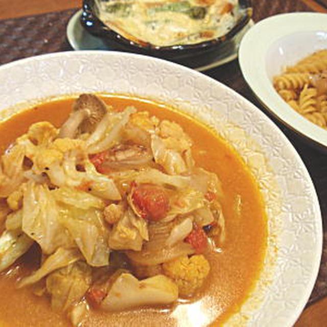 キャベツのトマトクリームスープ煮(簡易レシピ付)