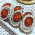 鱧のトマト巻き白焼き 花椒風味