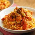 鶏むね肉のトマトパスタ、筋トレ後におすすめ! by 筋肉料理人さん