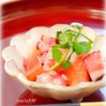 たことトマトの和風サラダ by mariaさん